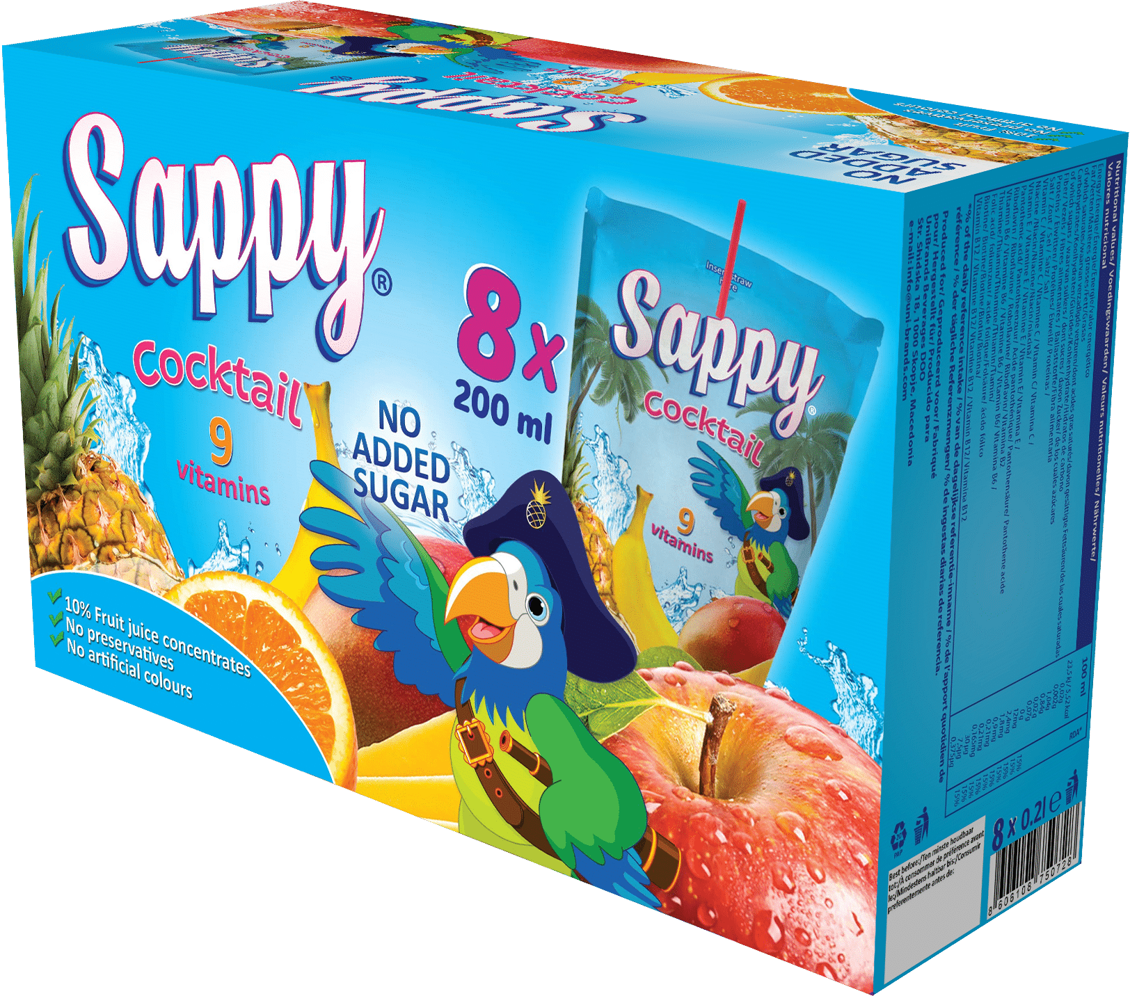 Sappy box 8*200ml